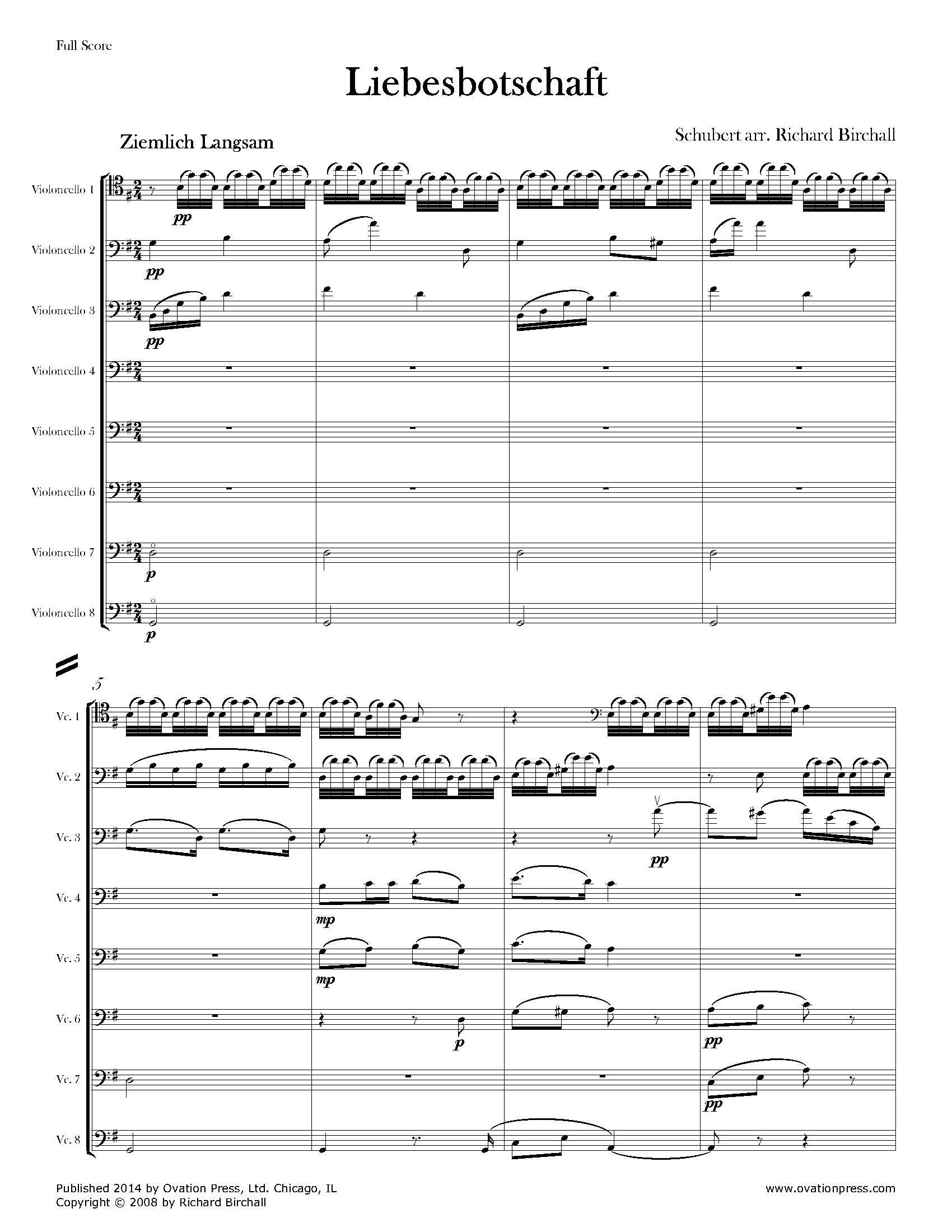schubert standchen cello pdf