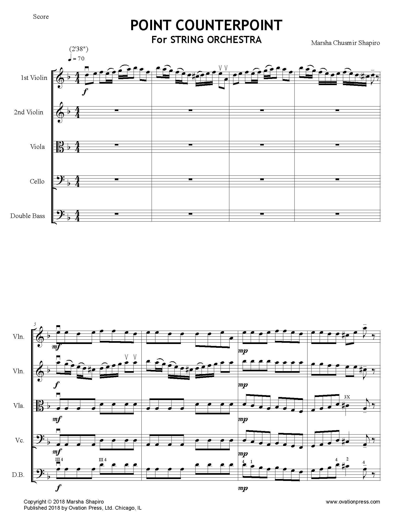 Point Counterpoint for String Orchestra