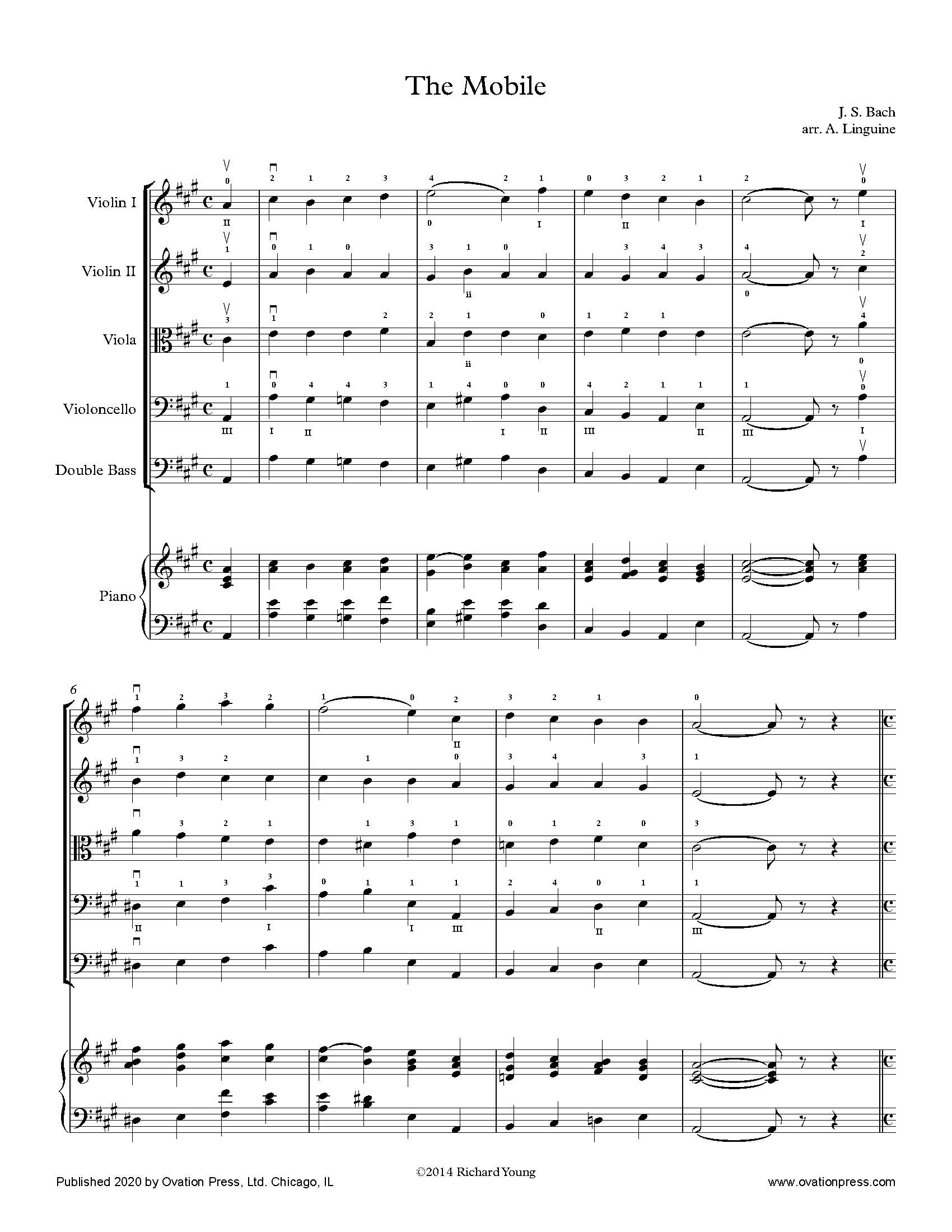 Bach The Mobile (for Elementary String Orchestra)