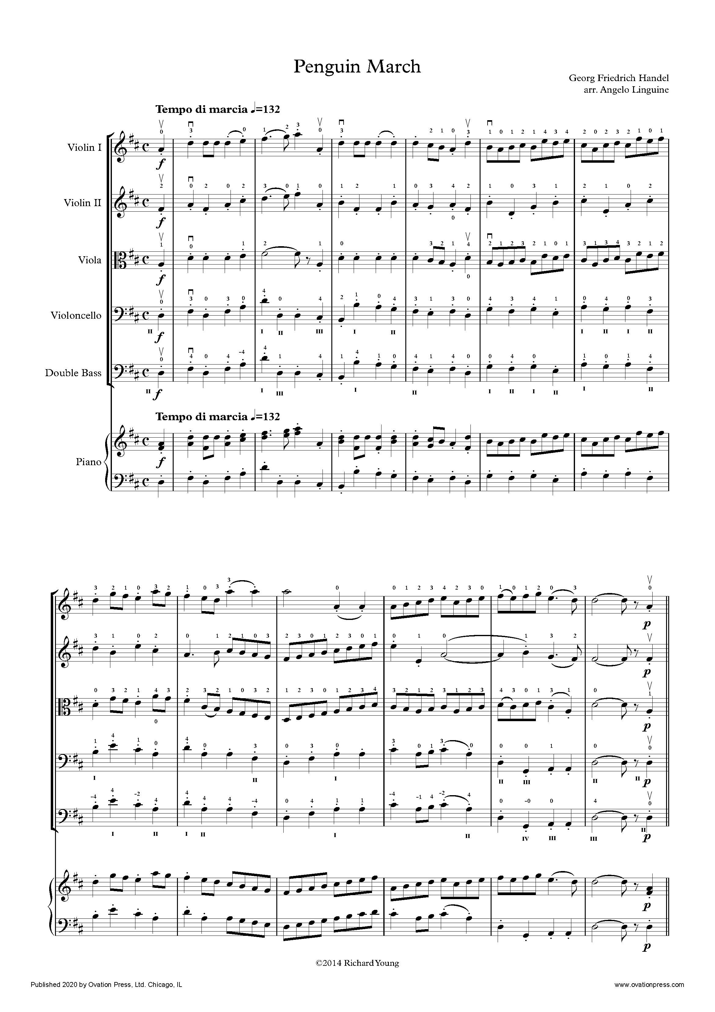 Handel Penguin March (for Elementary String Orchestra)