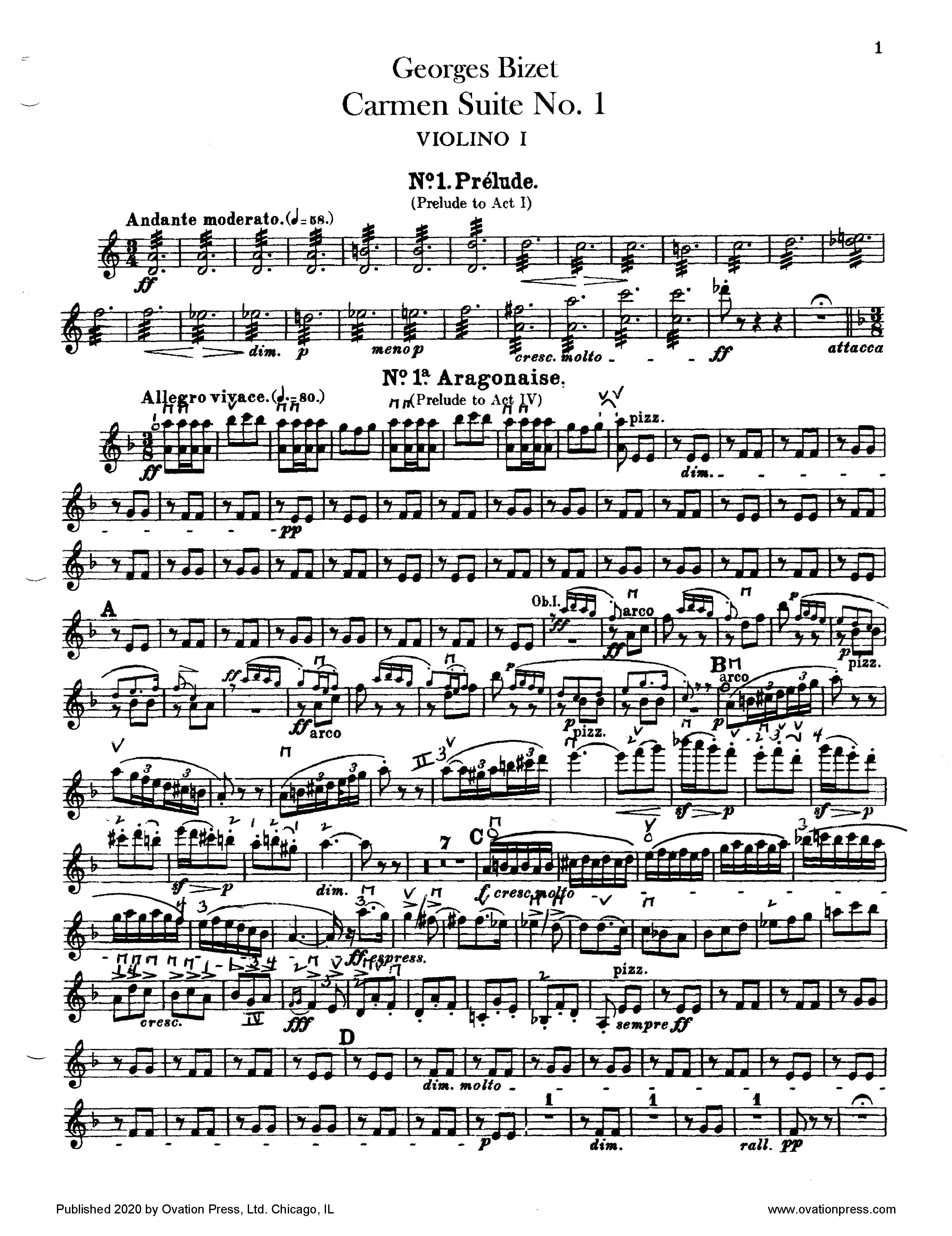 Bizet Carmen Suite No. 1 (for Intermediate Orchestra)