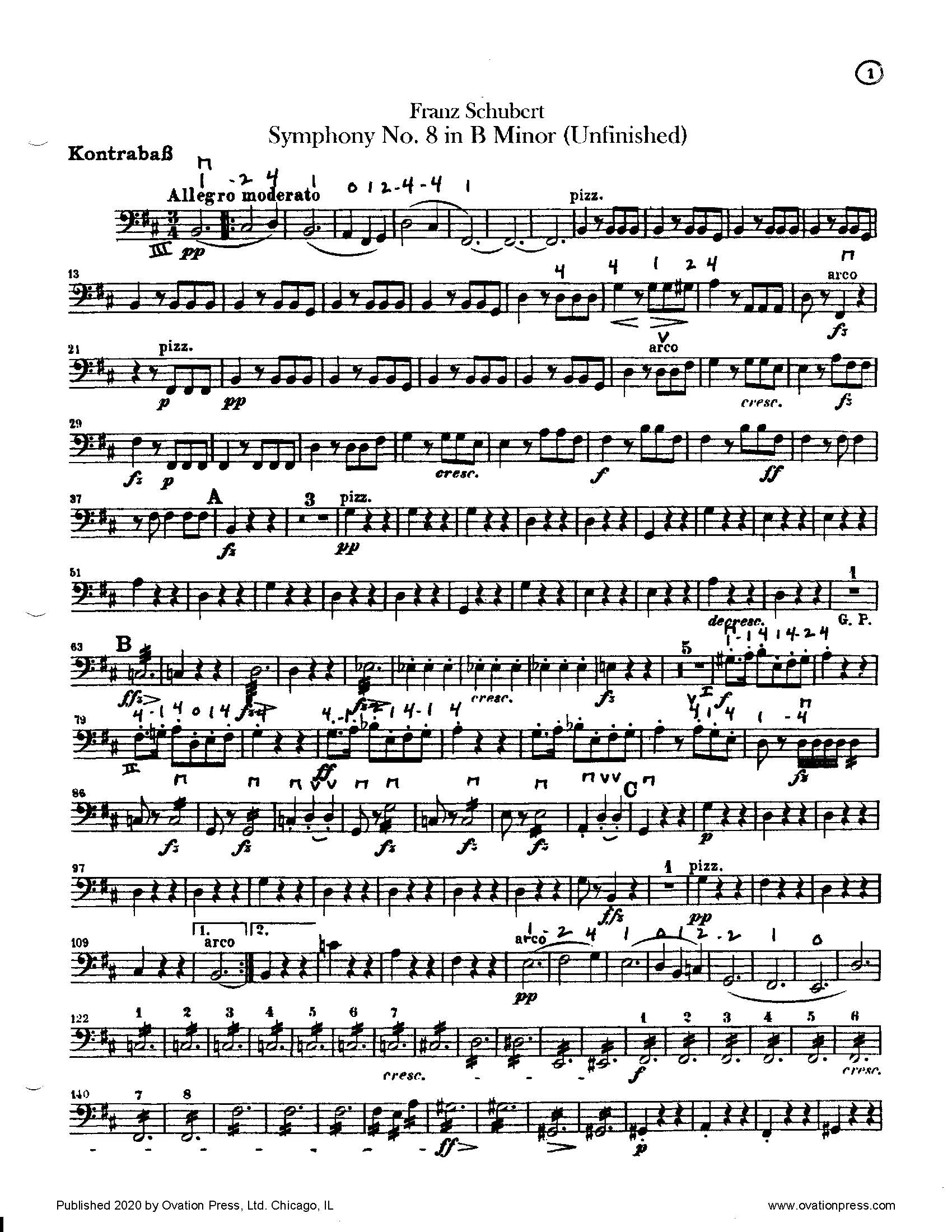 Schubert Unfinished Symphony (for Intermediate Orchestra)