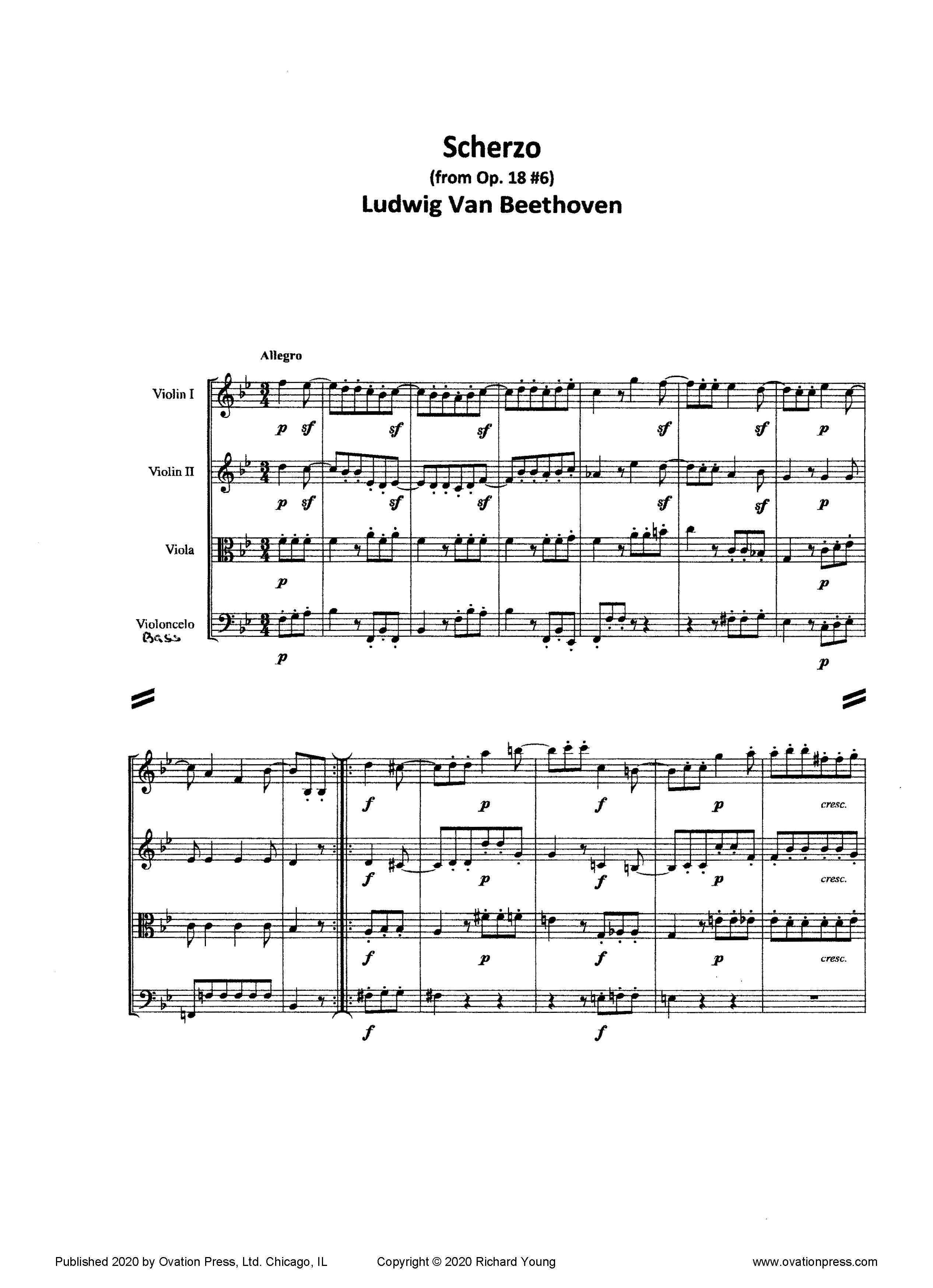 Beethoven Scherzo (for Advanced String Orchestra)