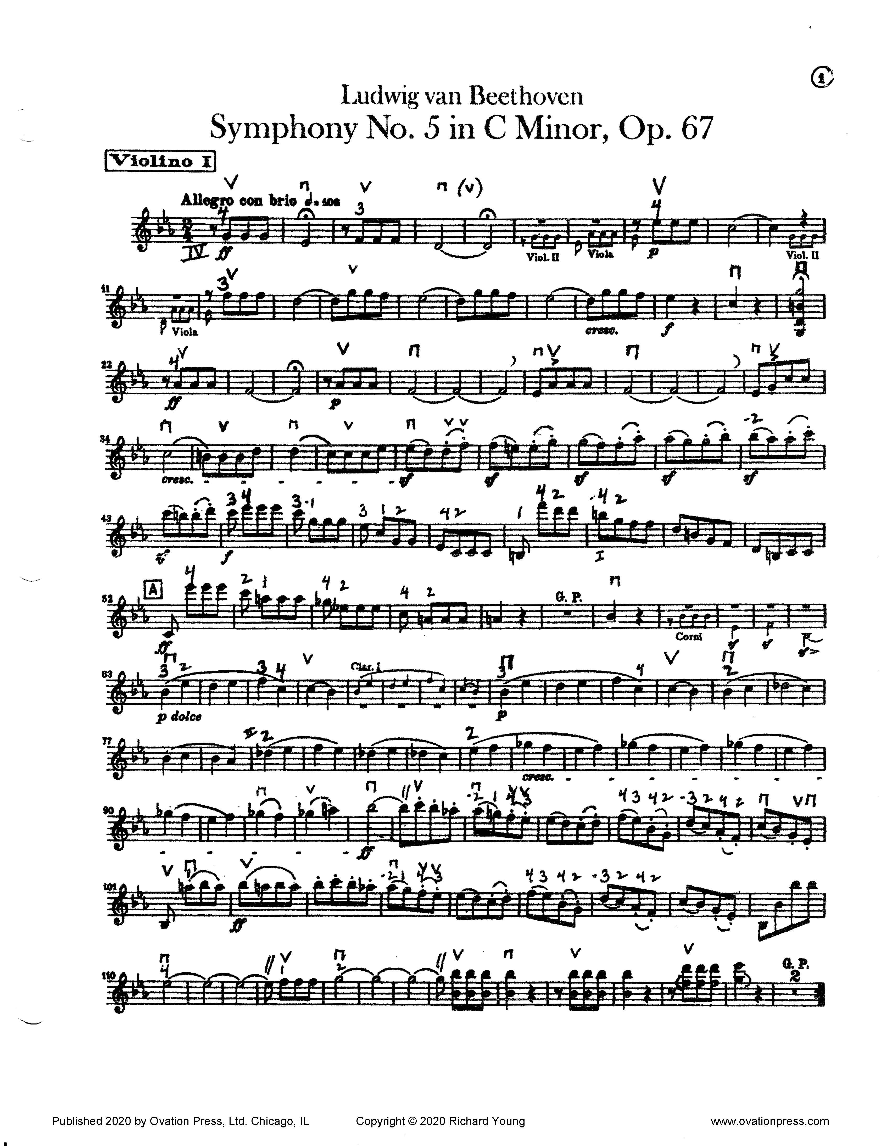 Beethoven Symphony No. 5 (for Advanced Orchestra)