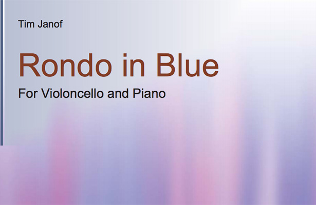 Tim Janof – Rondo in Blue