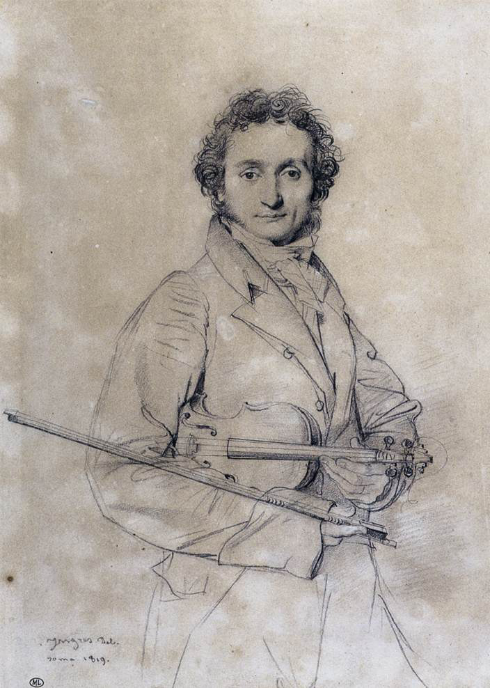 Sketch of Niccolo Paganini